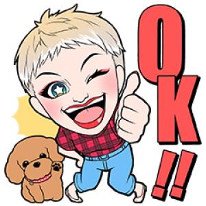 【無料スタンプ速報:隠し無料スタンプ】Katy Perry購入者限定スタンプ(2018年03月19日まで)