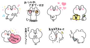 【無料スタンプ速報】ゆるくま×LINEショッピング スタンプ(2018年03月28日まで)