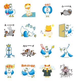 【LINE無料スタンプ速報】アフラックから新キャラクター登場! スタンプ(2018年04月23日まで)