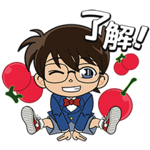 【無料スタンプ速報:隠し無料スタンプ】LINE ポコポコ × 名探偵コナン スタンプ(2018年03月29日まで)