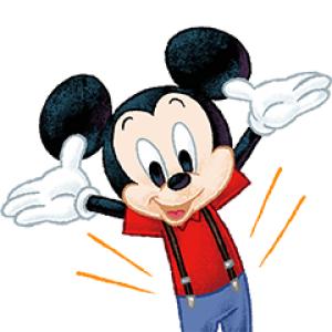 【LINE無料スタンプ速報:隠し】ミッキーマウス(入会特典) スタンプ