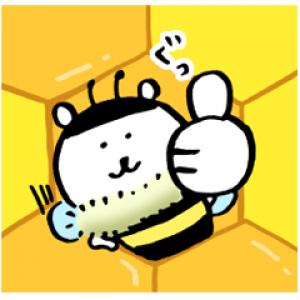 【LINE無料スタンプ速報:隠し】自分ツッコミくま×山田養蜂場 スタンプ(2018年04月16日まで)