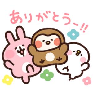 【LINE無料スタンプ速報】カナヘイのピスケ&うさぎ×フク子さん スタンプ(2018年06月04日まで)