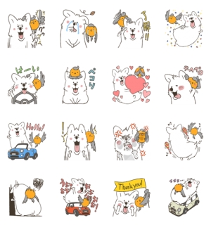 【LINE無料スタンプ速報】コーギーとコマドリ スタンプ(2018年05月28日まで)