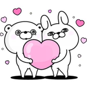 【LINE無料スタンプ速報】うさぎ&くま100%×ファビウス スタンプ(2018年07月02日まで)
