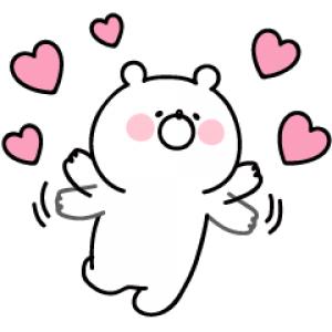 【LINE無料スタンプ速報:隠し】ガーリーくまさん×江原道 スタンプ(2018年08月06日まで)