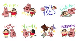 【LINE無料スタンプ速報】ポコパンタウン×クレヨンしんちゃん スタンプ(2018年07月03日まで)
