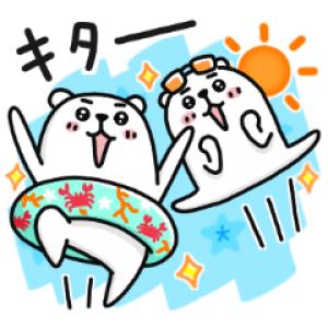 【LINE無料スタンプ速報】選べるニュース×ぷるくまさん スタンプ(2018年08月08日まで)