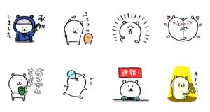 【LINE無料スタンプ速報:隠し】自分ツッコミくま×dマガジン スタンプ(2018年10月14日まで)