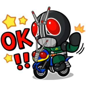【LINE無料スタンプ速報:隠し】LINE レンジャー×仮面ライダーコラボ スタンプ(2018年10月26日まで)