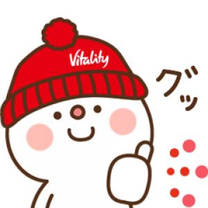 【LINE無料スタンプ速報:隠し】住友生命「Vitality」×だいふく スタンプ(2019年03月18日まで)