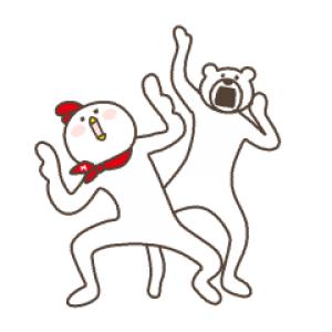 【LINE無料スタンプ速報】けたたましく動くクマ×ホンディー スタンプ(2019年02月11日まで)