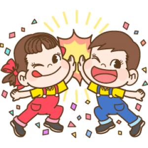 【LINE無料スタンプ速報:隠し】バブル2xペコちゃん コラボスタンプ! スタンプ(2019年01月15日まで)