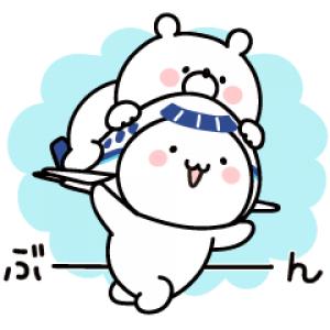 【LINE無料スタンプ速報】ガーリーくまさん&ANAそらっち スタンプ(2019年02月18日まで)