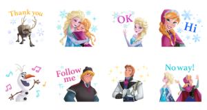 【LINE無料スタンプ速報:隠し】【イベント】アナと雪の女王 スタンプ