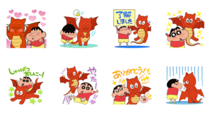 【LINE無料スタンプ速報:隠し】バブル2xクレヨンしんちゃんコラボ! スタンプ(2019年02月19日まで)