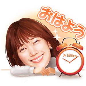 【LINE無料スタンプ速報】本田翼&ホームズくんスタンプ(2019年03月11日まで)