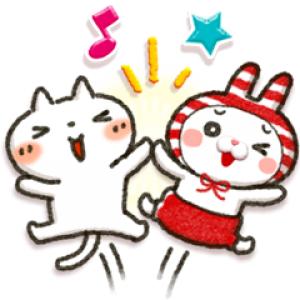 【LINE無料スタンプ速報】しまむら×Honobono「しろねこ」 スタンプ(2019年04月01日まで)