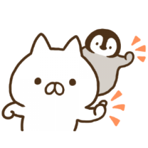 【LINE無料スタンプ速報】ねこぺん日和 ☆無料☆ スタンプ(2019年04月08日まで)