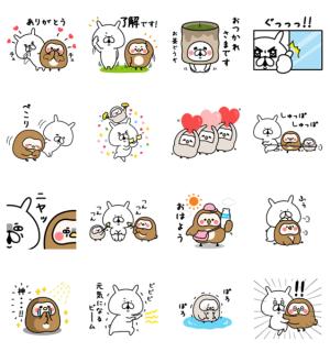 【LINE無料スタンプ速報】ゆるうさぎ×フク子さん&こふく スタンプ(2019年06月03日まで)
