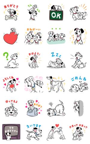 【LINE無料スタンプ速報】【5月限定】101匹わんちゃん スタンプ