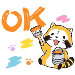 【LINE無料スタンプ速報:隠し】あらいぐまラスカル おえかきデザイン スタンプ(2019年07月25日まで)