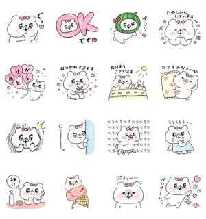 【LINE無料スタンプ速報:隠し】会話にクマを添えましょう×メディプラス スタンプ(2019年09月02日まで)