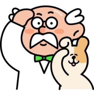 【LINE無料スタンプ速報】やんちゃイヌ(助手)とポイント博士 スタンプ(2019年12月04日まで)