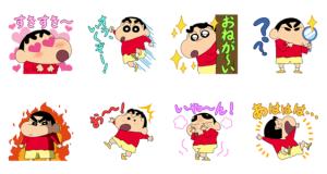 【LINE無料スタンプ速報:隠し】ブラウンファーム×クレヨンしんちゃん スタンプ(2019年10月22日まで)