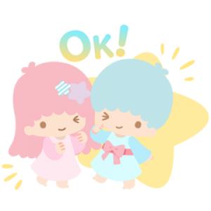 【LINE無料スタンプ速報:隠し】キキ&ララ45周年記念♪ スタンプ(2020年04月14日まで)