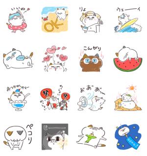 【LINE無料スタンプ速報】夏だ!海だ!タマ川ヨシ子(猫)第22弾 スタンプ(2020年08月03日まで)