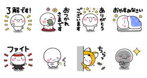 【LINE無料スタンプ速報】LINE STORE×しろまる スタンプ(2020年12月16日まで)