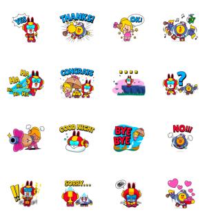 【LINE無料スタンプ速報:隠し】Brawl Stars × LINE FRIENDS Stickers スタンプ(2021年01月06日まで)