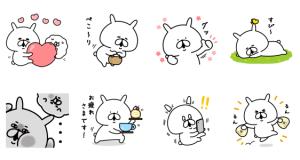 【LINE無料スタンプ速報】ゆるうさぎ × LINEチラシ スタンプ(2021年03月24日まで)