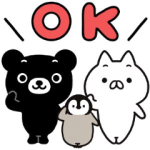 【LINE無料スタンプ速報】ねこぺん日和×くろくまくん スタンプ(2021年05月03日まで)