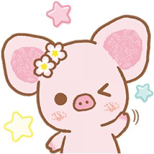【日替半額セール】ピギーガール ときめきDays スタンプ(2017年11月18日分)