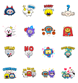 【LINE無料スタンプ速報】Amp up your day with TRUZ! スタンプ(2021年06月02日まで)