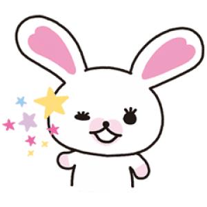 【日替半額セール】動く!うさぎのモフィ スタンプ(2017年11月15日分)
