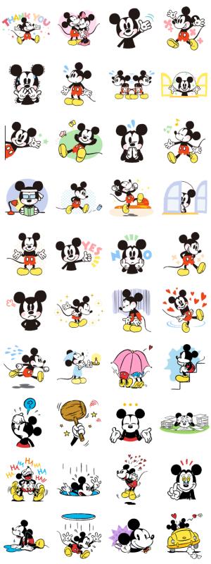 【半額セール】ミッキーマウス スタンプ(2017年11月21日AM10:59まで)