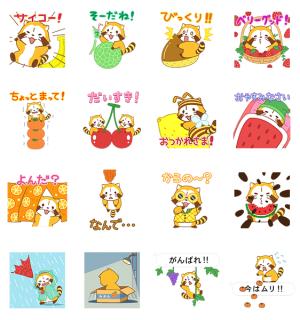 【半額セール】フルーツラスカル☆ ポップアップスタンプ(2017年12月5日AM10:59まで)