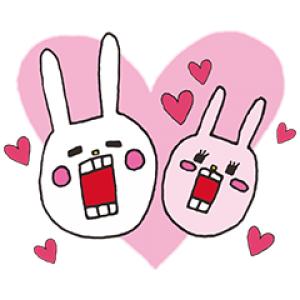 【無料スタンプ速報】ウサギのウーに新キャラ登場! スタンプ(2016年07月25日まで)