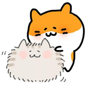 【無料スタンプ速報:隠し無料スタンプ】むにむにハムスターとゆるふわもふ猫 スタンプ(2016年07月10日まで)