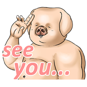 【無料スタンプ速報:隠し無料スタンプ】出荷待ちの豚(ベストセレクション) スタンプ(2016年07月10日まで)