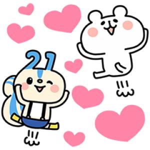 【無料スタンプ速報】第4弾!ゆるくま×レオパリスくん スタンプ(2016年08月15日まで)
