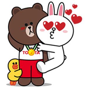 【無料スタンプ速報】TOYOTA×LINE FRIENDS スタンプ(2016年08月29日まで)