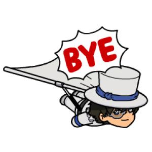 【無料スタンプ速報】名探偵コナン×レンジャーコラボレーション スタンプ(2016年10月31日まで)