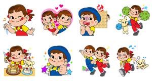 【無料スタンプ速報】LINE ラッシュ × ペコちゃん スタンプ(2016年12月22日まで)