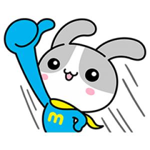 【無料スタンプ速報】ウサマッチョ スタンプ(2017年04月24日まで)