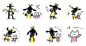 【無料スタンプ速報】おめかし犬ピクとニック ver.4 スタンプ(2017年05月15日まで)