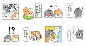 【無料スタンプ速報】マンガっぽい?! ボンレス犬&猫 スタンプ(2017年08月22日まで)